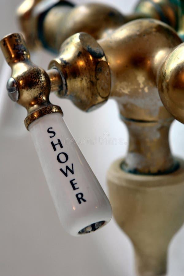 retro dusch för armatur royaltyfri bild