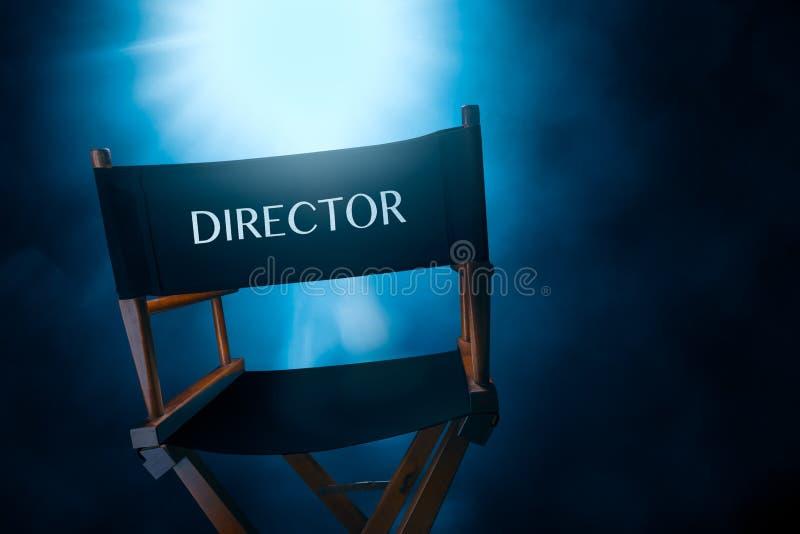 Retro dyrektora krzesło, wysokiego kontrasta wizerunek zdjęcia royalty free