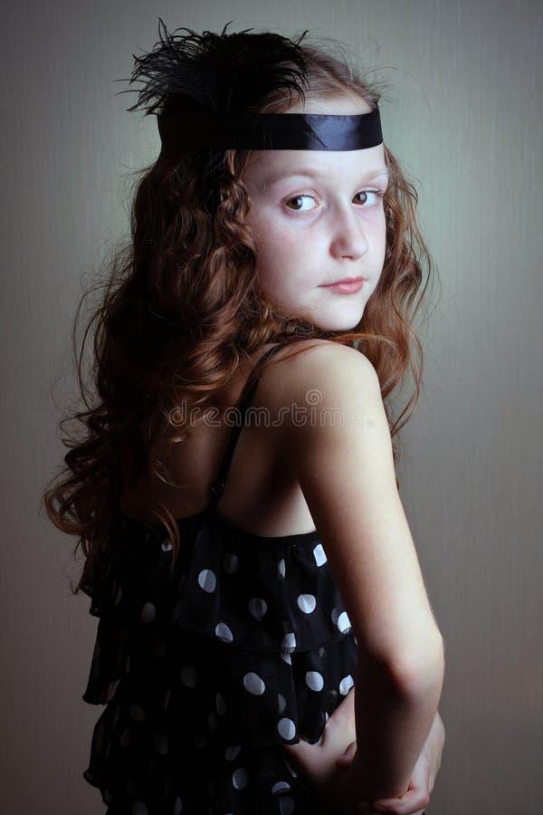 retro dziewczyna styl zdjęcia royalty free