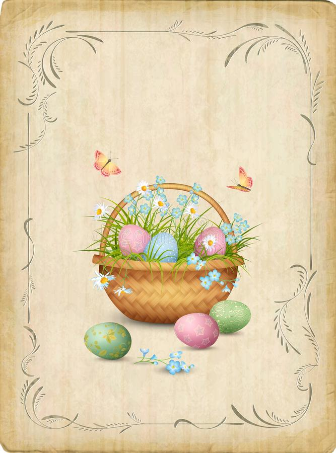 Retro Easter Card stock illustration