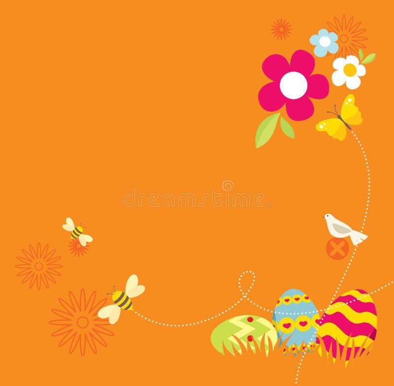 Retro Easter Design royalty free illustration
