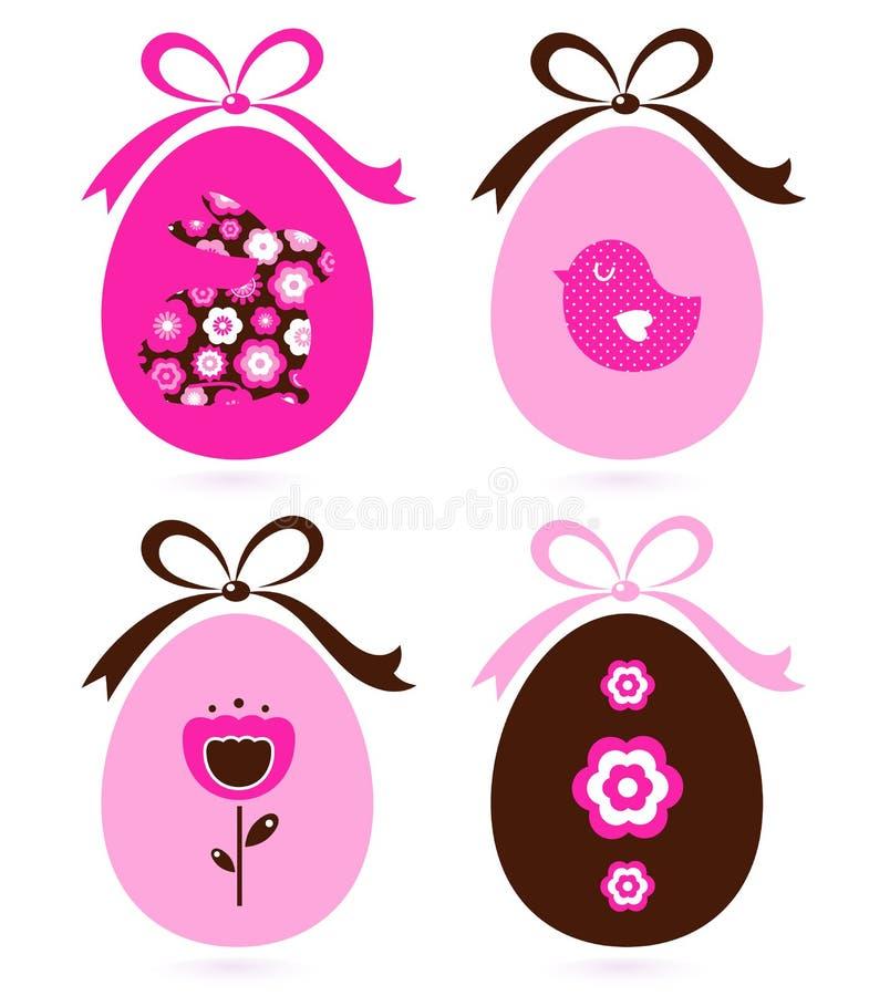 Retro easter eggs set stock illustration