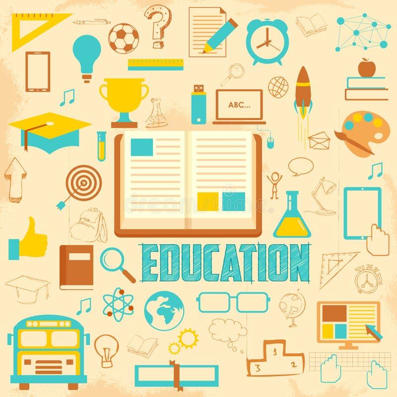 Retro Education Background royalty free illustration