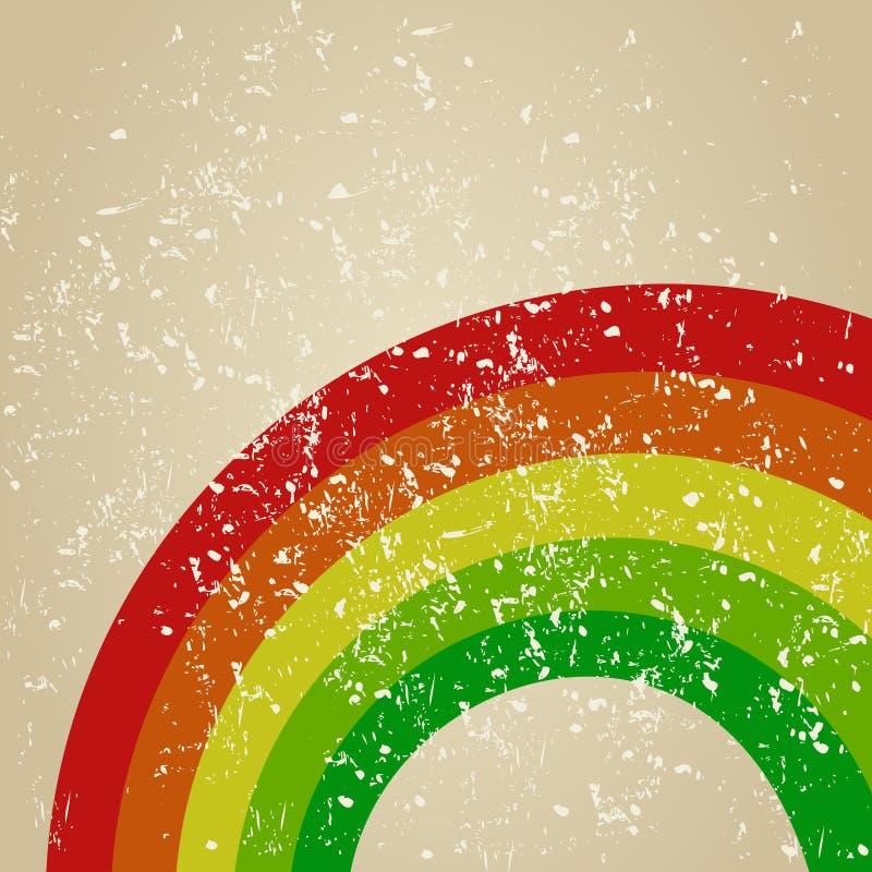 Retro- ein Regenbogen vektor abbildung