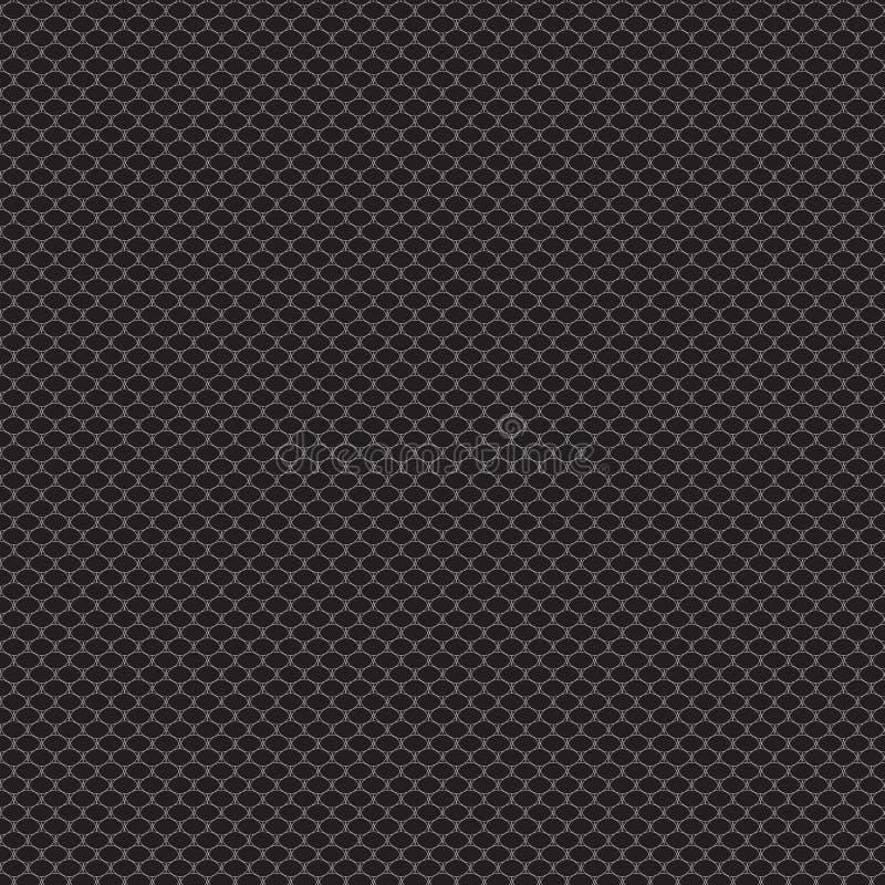 Retro- einfaches schwarzes Weiß der nahtlosen Musterspitze-Nettoweinlese geometrisch lizenzfreie abbildung