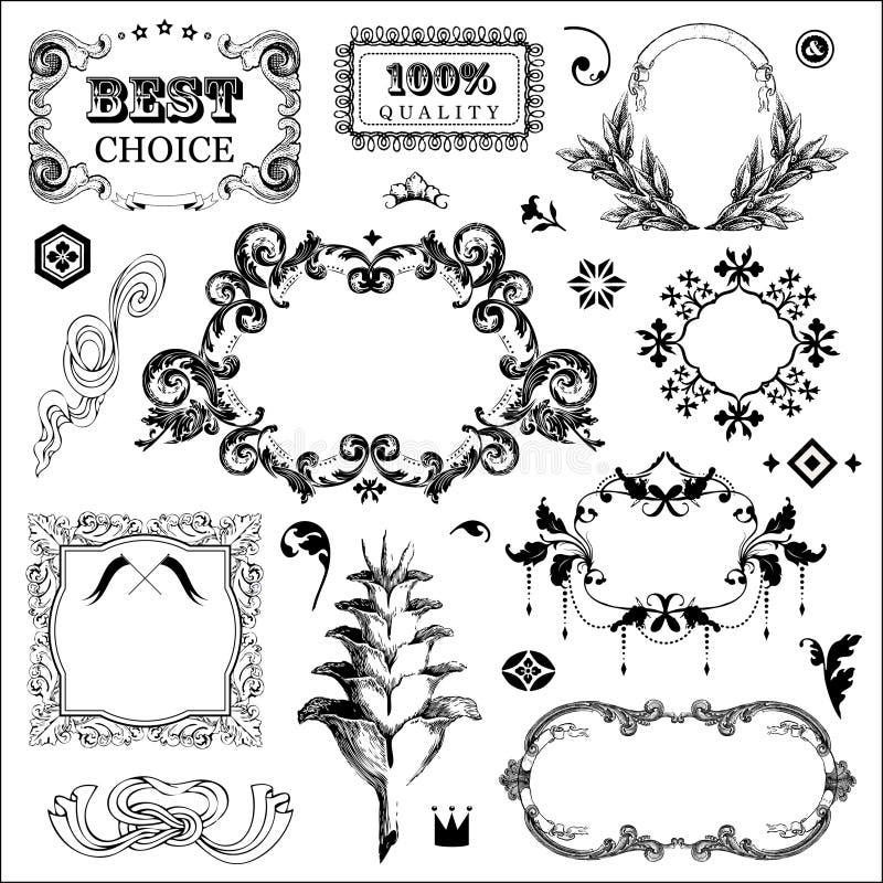 Download Retro elementen vector illustratie. Illustratie bestaande uit kroon - 29509780