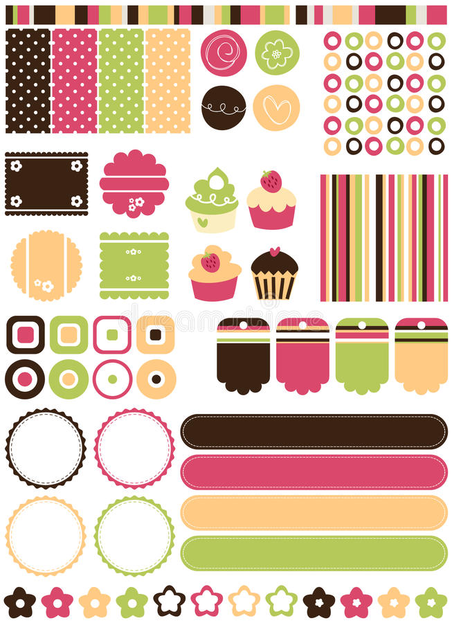 Download Retro elements stock vector. Image of borders, background - 16044475