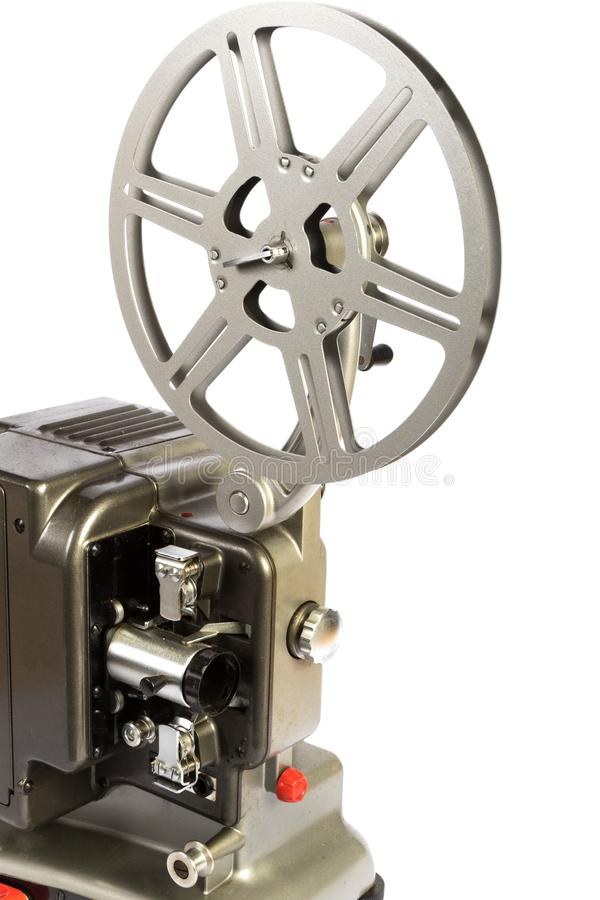 Retro eller för tappning för hem- film projektor arkivfoto