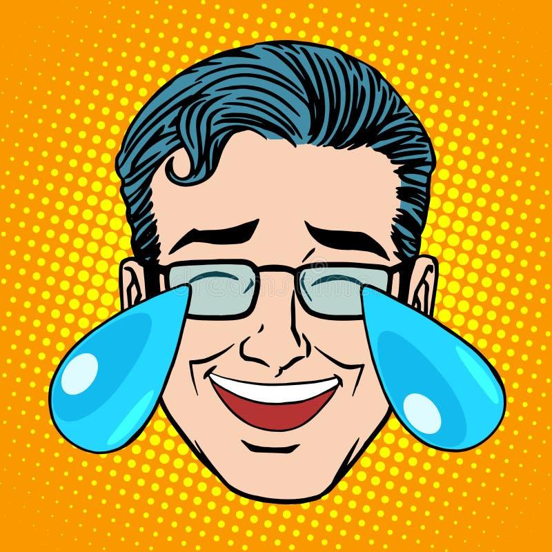 Retro Uomo Del Fronte Di Grido Di Emoji Illustrazione ...