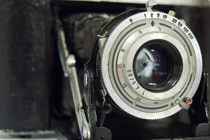 Retro- Entfernungsmesser-Kamera stockfoto