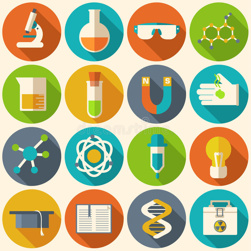 Retro esperimenti in chimica di scienza royalty illustrazione gratis