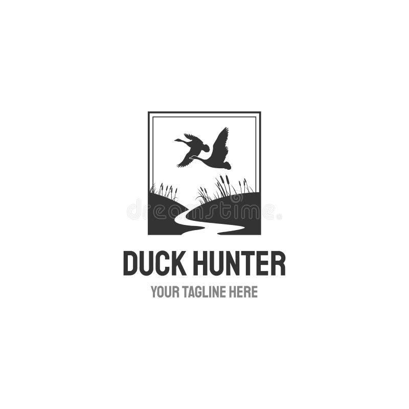 Retro etiket van de de jachtclub op witte achtergrond wordt geïsoleerd die Vector illustratie royalty-vrije illustratie