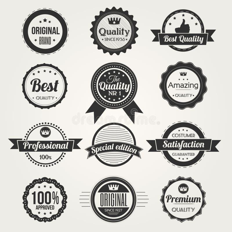 Retro etiketten van de premiekwaliteit royalty-vrije illustratie