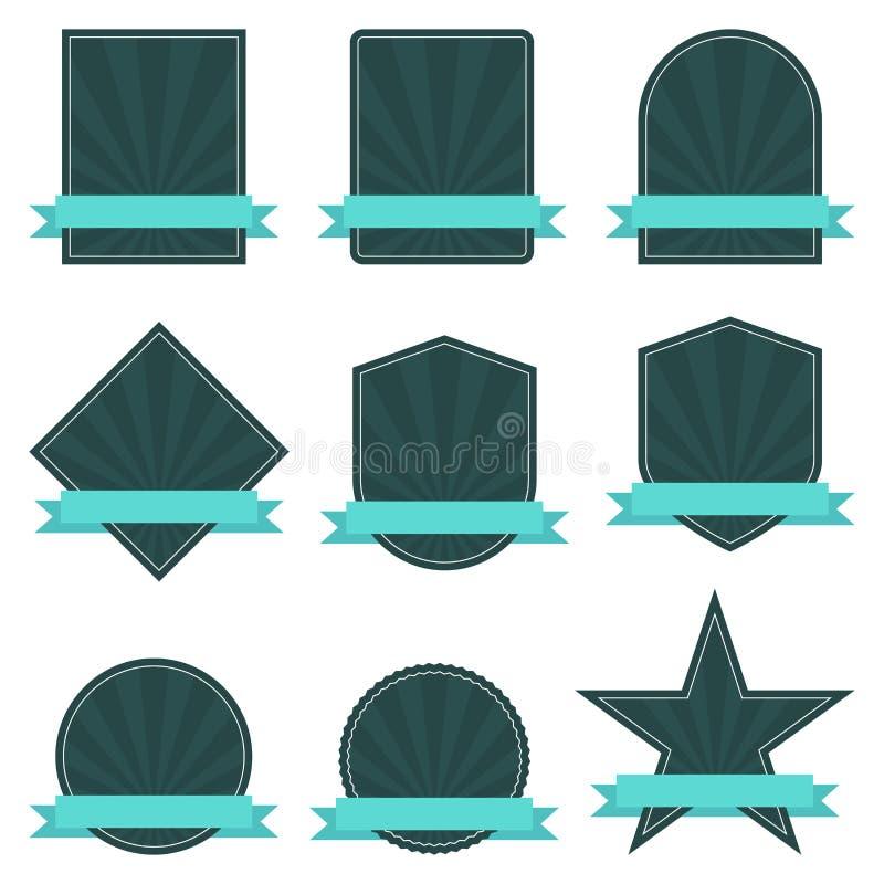 Retro etiketter vektor illustrationer