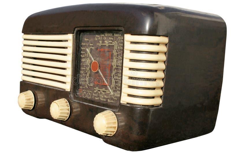 retro europeisk radio royaltyfri fotografi