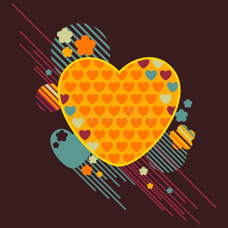 retro förälskelse stock illustrationer