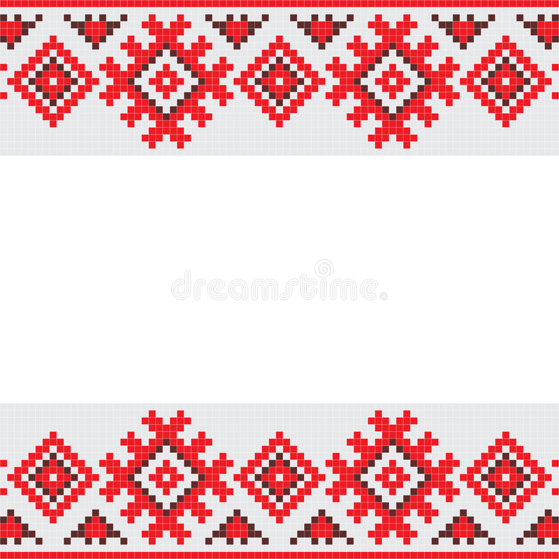 Download Retro fabric ornament stock vector. Image of fashion, retro - 6360106