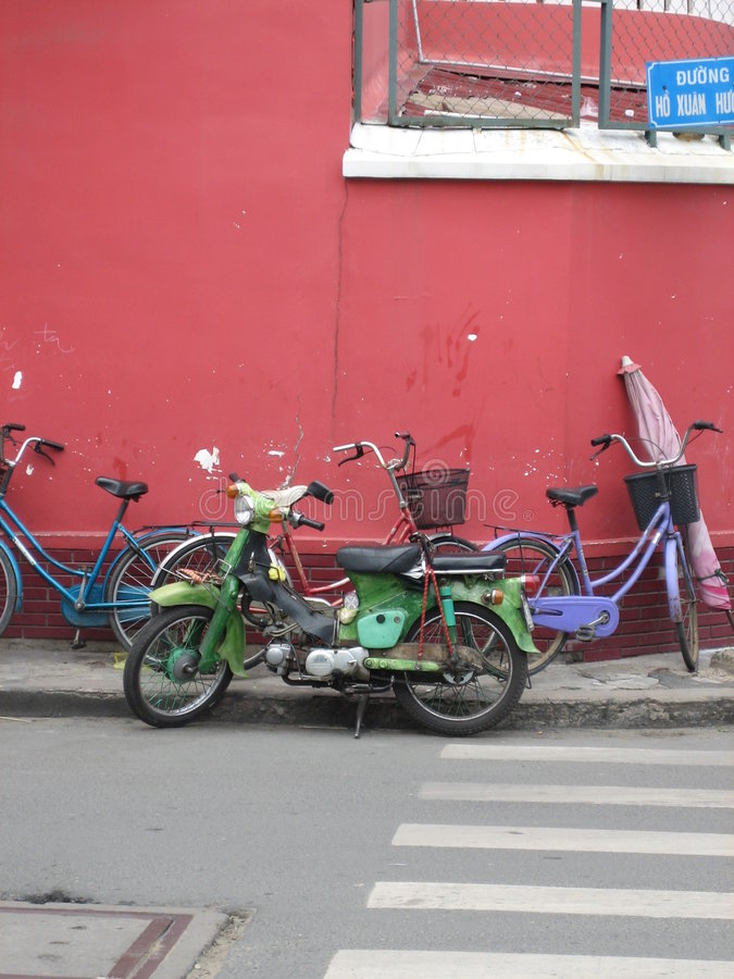 Retro- Fahrräder lizenzfreie stockbilder