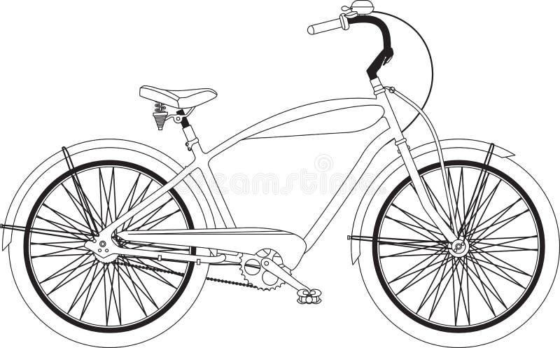Retro- Fahrrad lizenzfreie abbildung