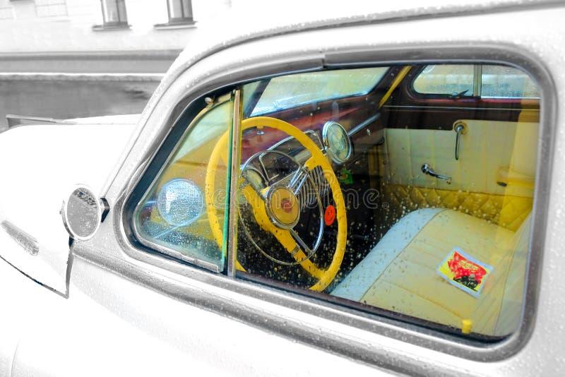 Retro- Fahrzeug, zurück zu UDSSR lizenzfreies stockbild
