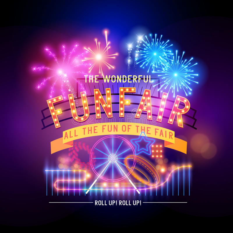Free Retro Fairground Circus Sign Stock Photo - 42793170