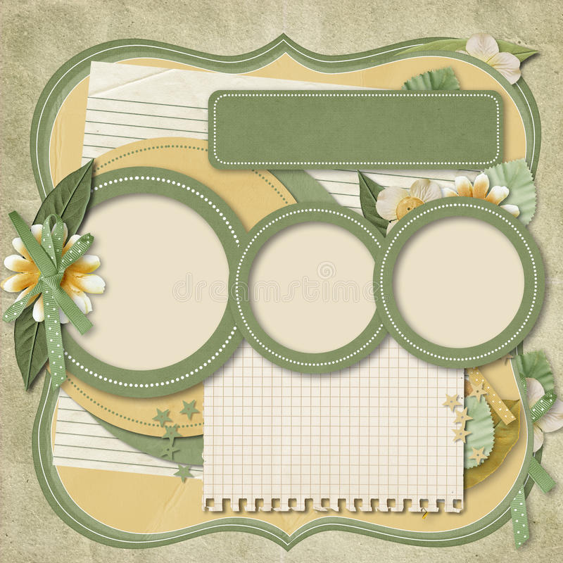 Download Retro Family Album.365 Project. Scrapbooking Templates. Stock Images - Image: 29529584