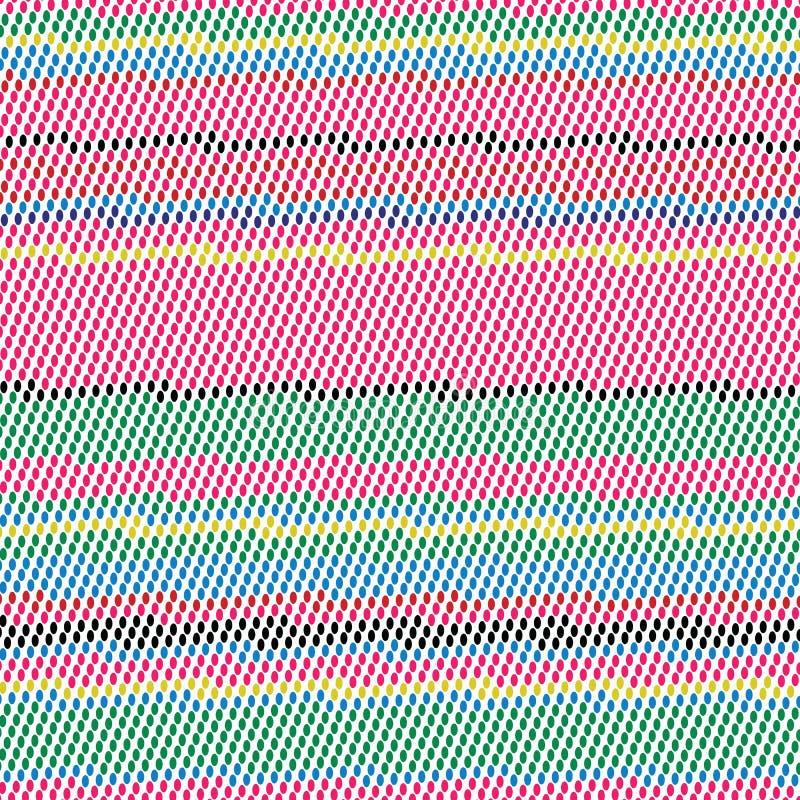 Retro- Farben streifen Art-Schmutz-Dots Vector Background Texture Pattern-_1 lizenzfreie abbildung