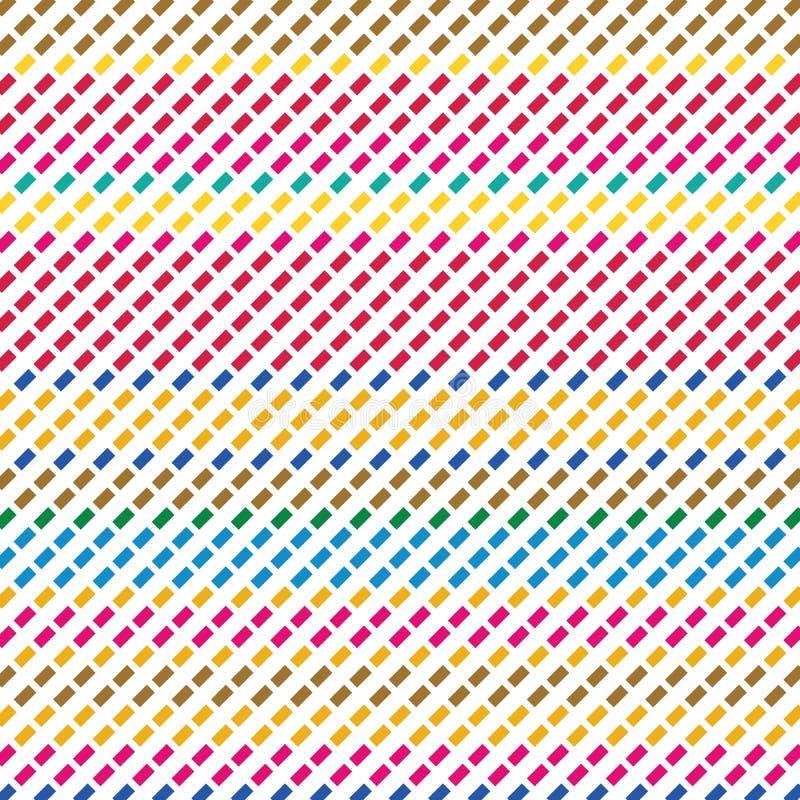 Retro- Farbplaid-Art-ausgestrichene Linien Dots Vector Background Texture Pattern vektor abbildung