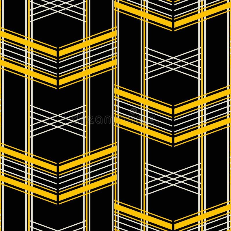 Retro fashion seamless geometric vector print stock illustration