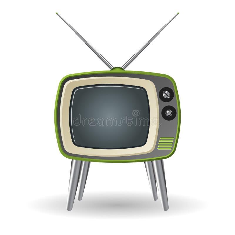 Retro- Fernsehapparat vektor abbildung
