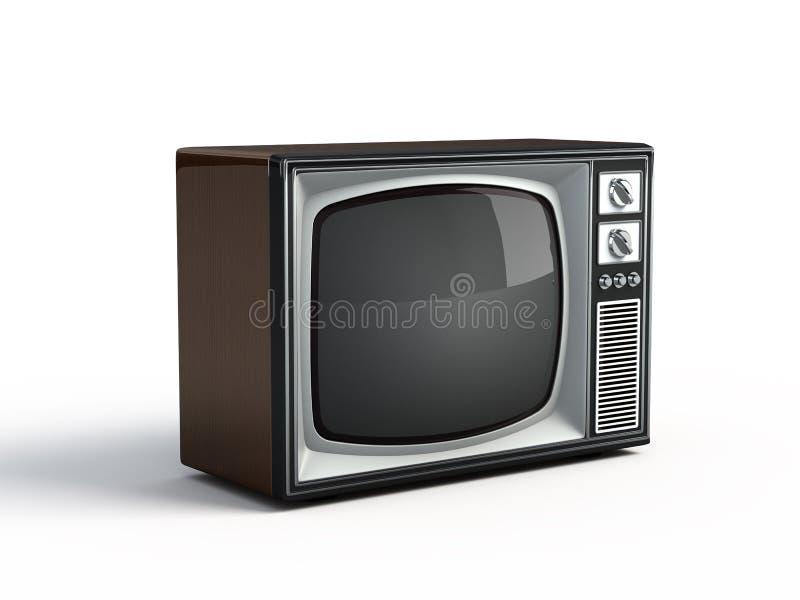 Retro- Fernsehapparat lizenzfreie abbildung