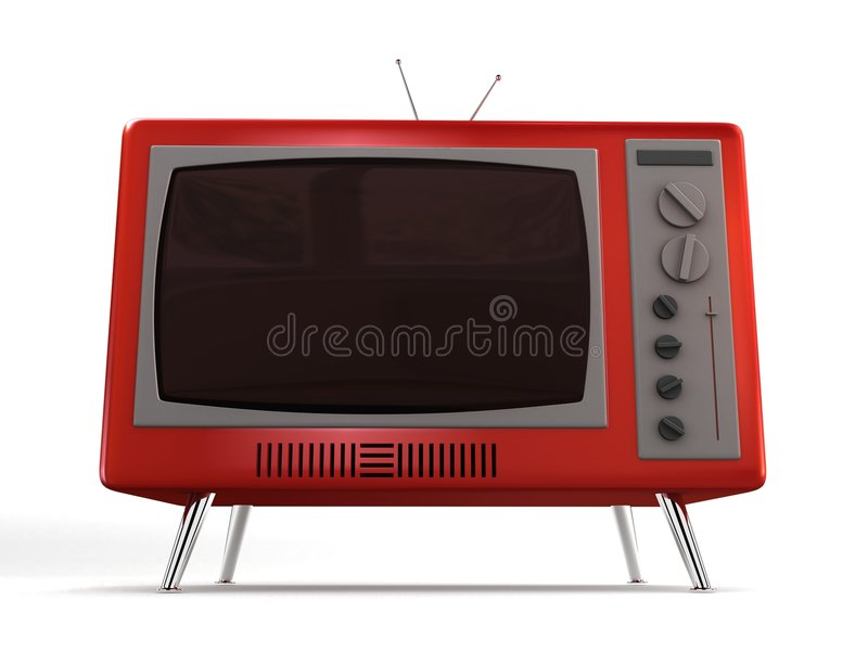 Retro- Fernsehapparat stock abbildung