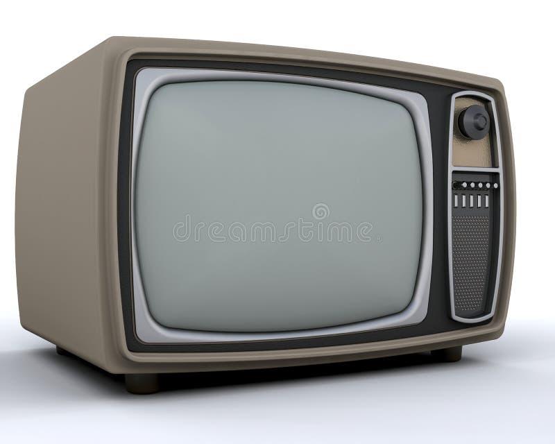 Retro- Fernsehen stock abbildung