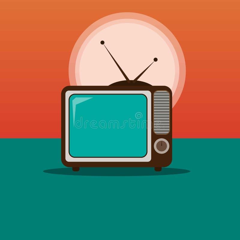 Retro- Fernsehen vektor abbildung