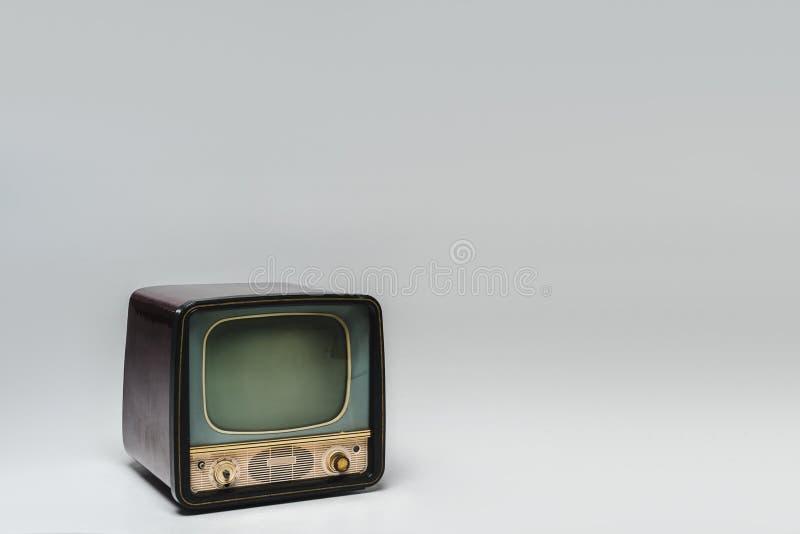 Retro- Fernsehen mit leerem Bildschirm lizenzfreie stockfotografie