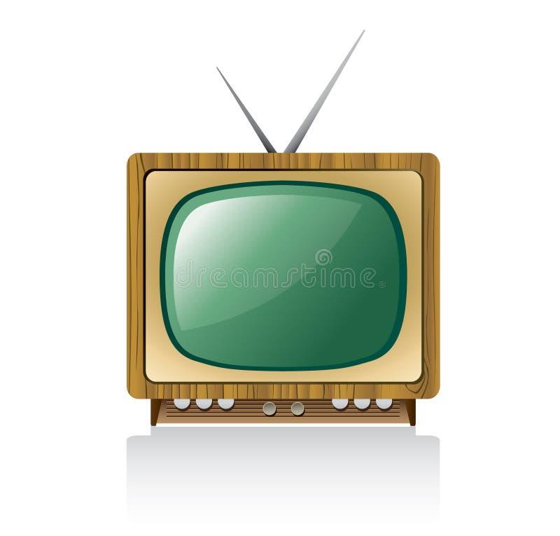 Retro- Fernseher lizenzfreie abbildung