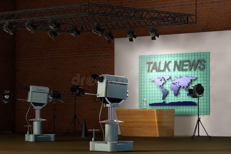 Retro- Fernsehstudio lizenzfreie abbildung