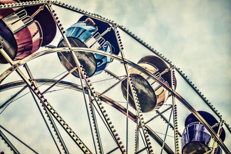 Retro- Ferris Wheel Ride stockfotografie