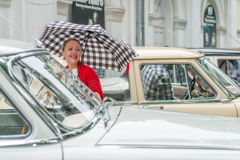 Retro festival  Days of history  in Moscow