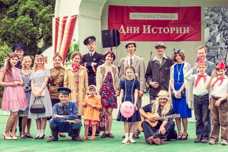 Retro festival 'giorni di storia' a Mosca fotografia stock libera da diritti
