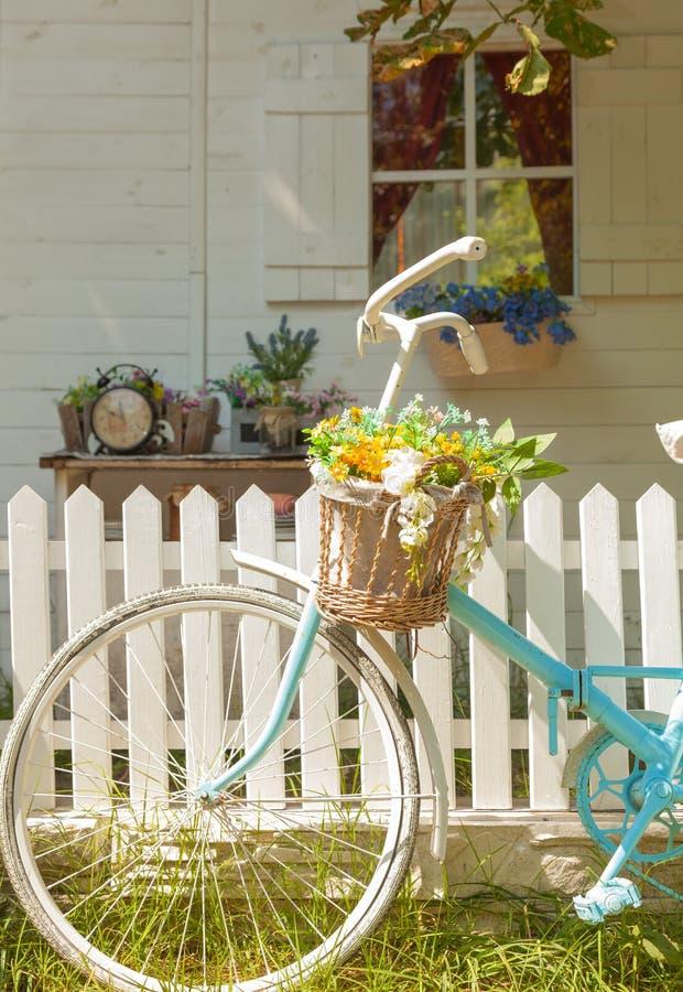 Retro fiets royalty-vrije stock foto's
