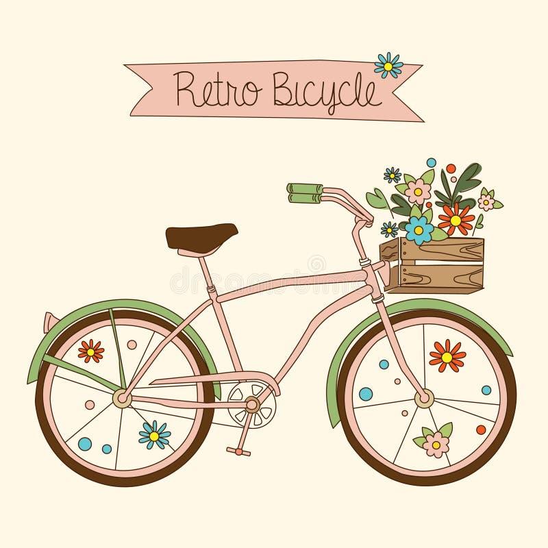 Retro fiets Vector illustratie vector illustratie