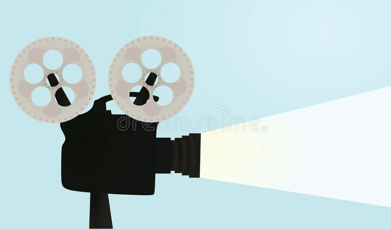Retro film camera vector illustration