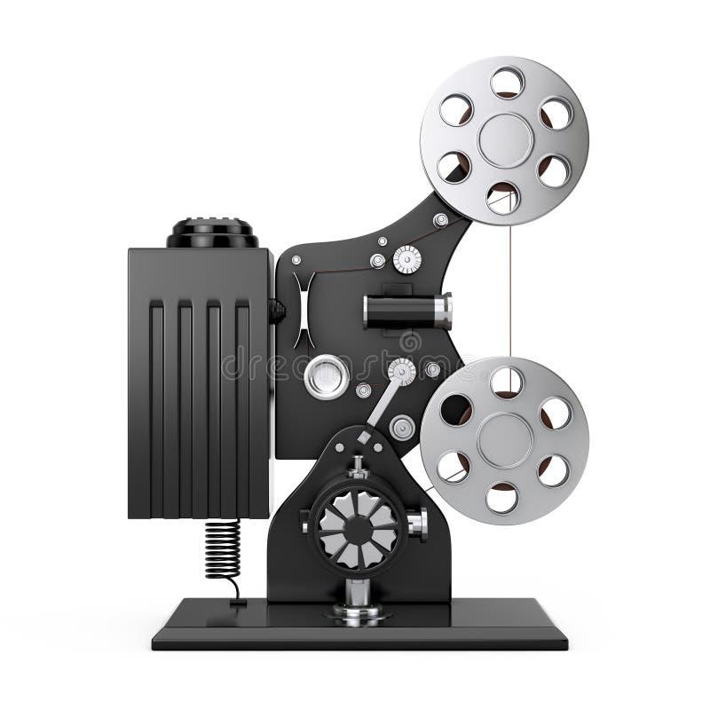 Retro- Film-Kino-Projektor Wiedergabe 3d lizenzfreie abbildung