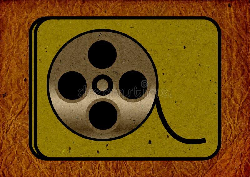 Grunge scratched film strip, reel background royalty free illustration
