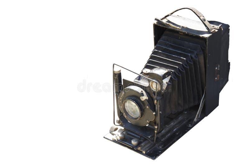 Retro film photo camera isolated on white background stock images