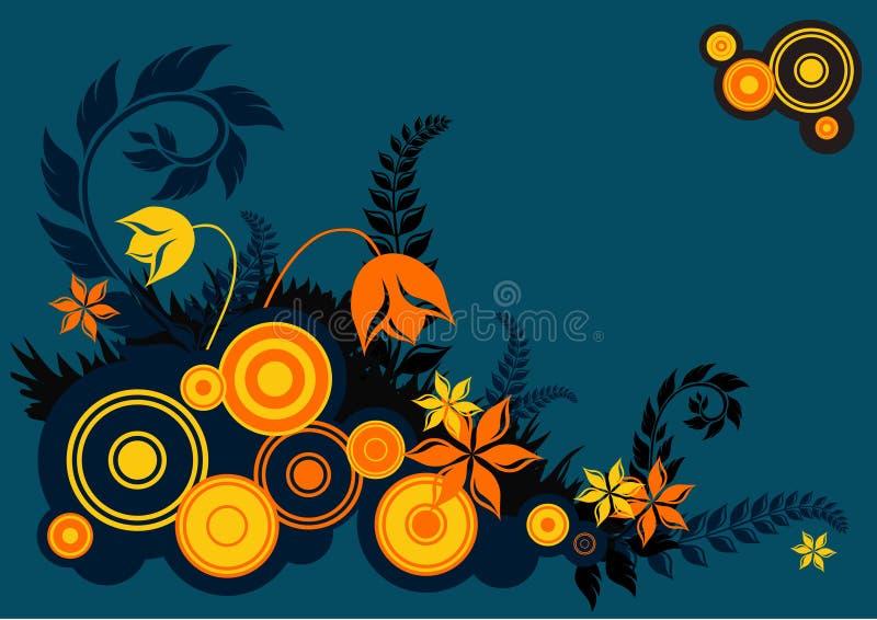 Retro fiori illustrazione vettoriale