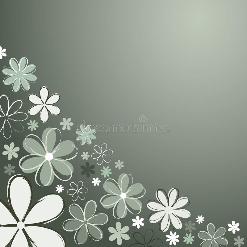 Retro fiori illustrazione di stock