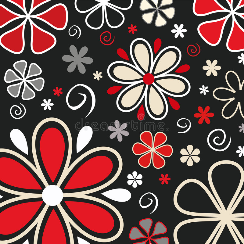 Retro fiori royalty illustrazione gratis