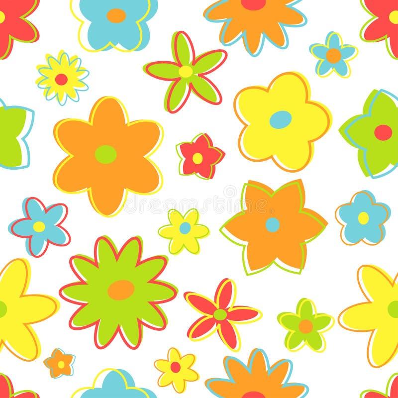 Retro fiori senza giunte immagini stock libere da diritti